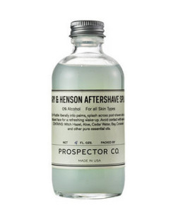 Peary and Henson Aftershave Splash For the well-groomed groomsman: This clean-smelling formula contains the perfect mixture of witch hazel and aloe, which will help soothe any nicks, bumps, or bruises.