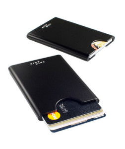 Slimline Card Holder You can stash up to four credit cards in this holder, but it will even securely hold just one, which makes it perfect for the high roller or the recent grad.