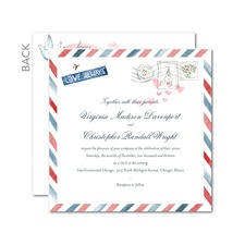 Air Mail Wedding Inivitations