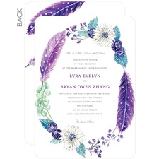 Wreathed in Whimsy Wedding cards