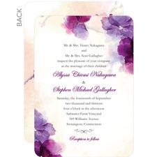 Soft Bougainvillea Wedding Cards