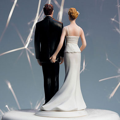 """THE LOVE PINCH"" BRIDAL COUPLE FIGURINE"