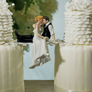 """""""THE LOOK OF LOVE"""" BRIDE AND GROOM COUPLE FIGURINE"""