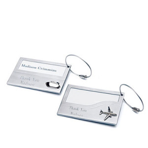 STAINLESS IRON LUGGAGE TAGS SET