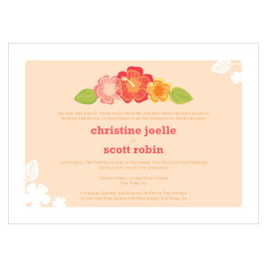 TROPICAL BLISS INVITATION