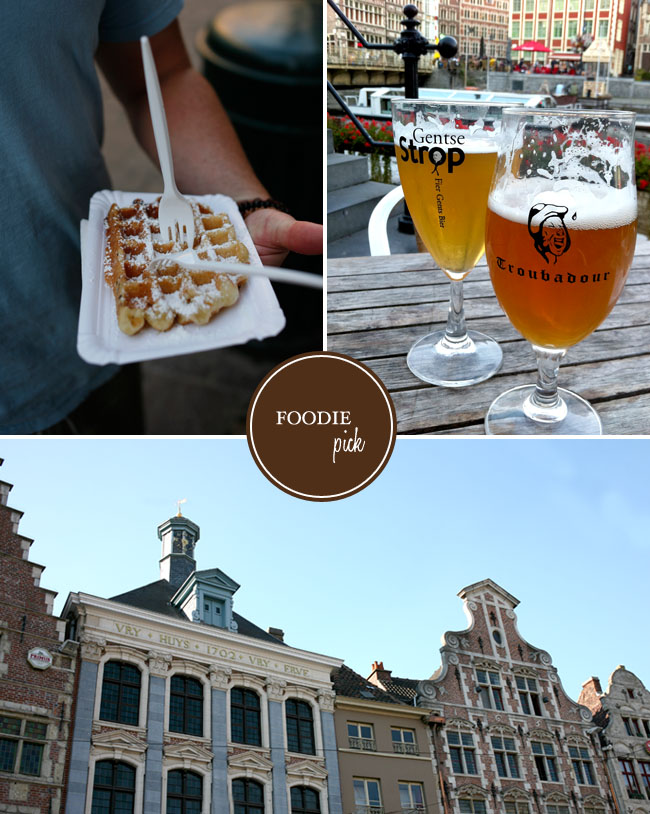 One of our favorite memories of Belgium and Ghent was drinking beer at the outdoor cafes along the river. This was the first place we stopped on our first afternoon and we just loved it. We ended up here every night and met some great people from all over the world. I couldn't stop taking pictures – it was so magical…
