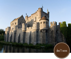 "Don't Miss! The Gravensteen castle in the center of town. Yep, there is a crazy cool castle right in the middle of Ghent originating from the Middle Ages. The name means ""castle of the count"" in Dutch."