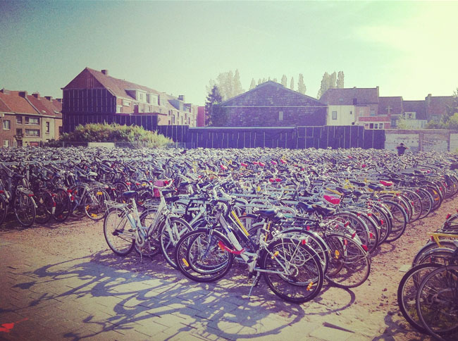 So many bikes in Ghent! Loved that everyone seemed to bike everywhere.