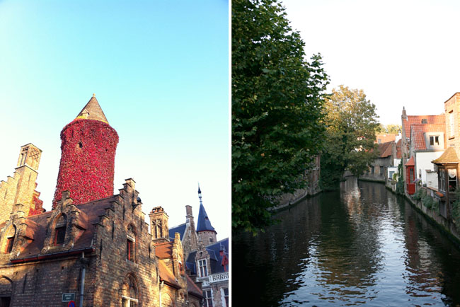 We also took a day trip to Bruges (a nearby town – about a 30 minute train ride from Ghent), but found it a bit more touristy + crowded than Ghent although it was a really pretty town. The photos above are from Bruges.