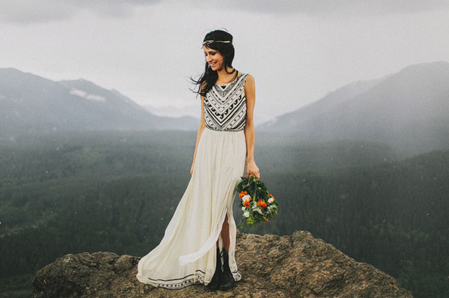 Laura's Mara Hoffman dress from her elopement was probably one of the most requested!