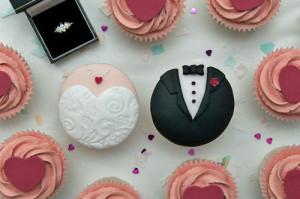boda, cupcake, idea,