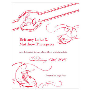 FRENCH WHIMSY SAVE THE DATE CARD