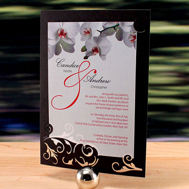 """LASER EXPRESSIONS CLASSIC ORCHID """"DOUBLE-LUXE"""" INVITATION"""