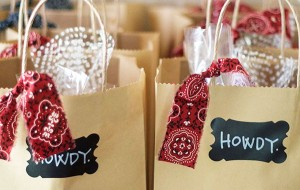 Howdy welcome gift bags for wedding guests.