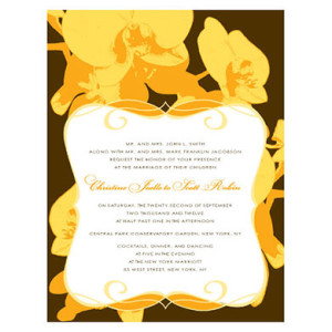 ORCHID GLAMOUR INVITATION