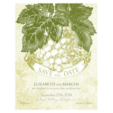 A WINE ROMANCE SAVE THE DATE CARD