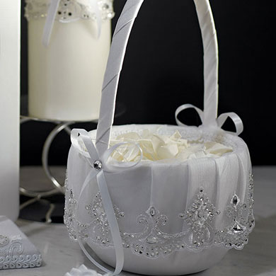 BEVERLY CLARK ROYAL LACE COLLECTION FLOWER GIRL BASKET