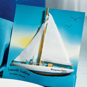"""SMOOTH SAILING"" SAILBOAT MAGNET GIFT FAVOR"