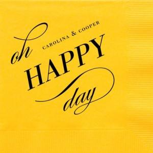 Especially Happy : Gold Napkin