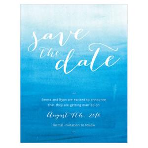 AQUEOUS SAVE THE DATE CARD