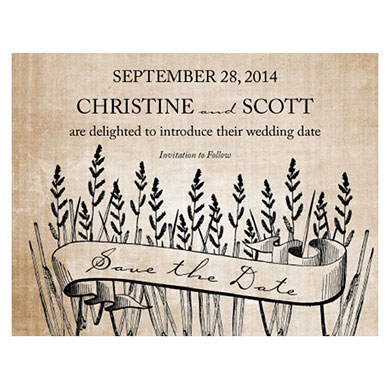 RUSTIC COUNTRY SAVE THE DATE CARD