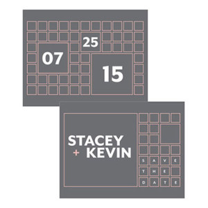 TIMES SQUARE SAVE THE DATE CARD