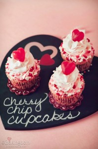 Sweet Cherry Chip Cupcakes