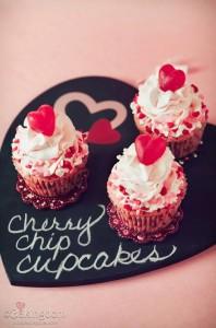 Sweet Cherry Chip Cupcakes