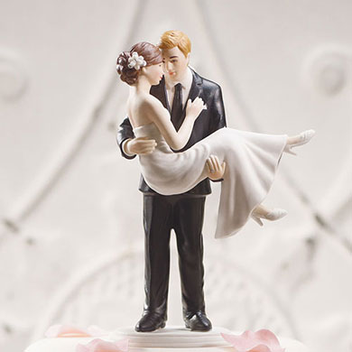 """""""SWEPT UP IN HIS ARMS"""" WEDDING COUPLE FIGURINE"""