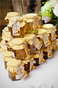 honey wedding favors. Really nice (and sweet) gifts for guests that won't just get thrown out.