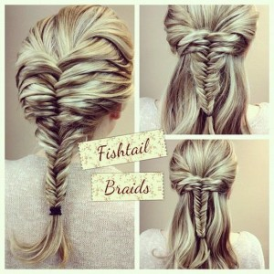 Bohemian Wedding Hairstyle ♥ Fish Tail Braid Ponytail Hairstyle