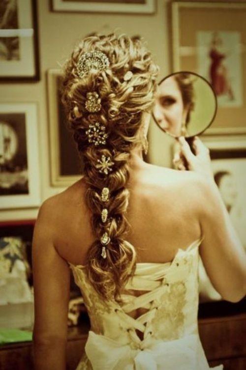 Braid Hairstyle with Brosh ♥ Hair Inpspiration