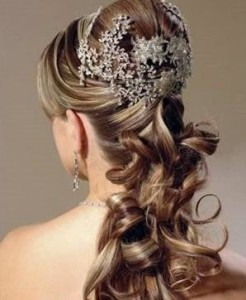 Bridal Hairstyles For Curly Long Hair