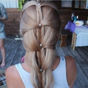 Unique Pearly Fishtail Braid Hairstyles for Wedding