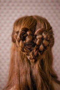 Valentine\'s Day Wedding Hairstyle ♥ Wedding Heart Braid Hairstyles
