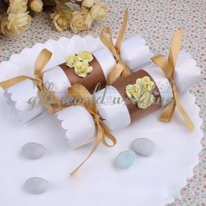 silver & blue wedding candy box