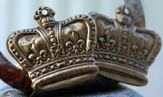 Cufflinks Steampunk Brass Crown Vintage Style Regal Brass Ox Crown Cufflinks Cuff Links
