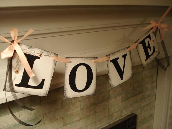 Love Banner/ Wedding Reception Decoration /Bridal Shower Banner