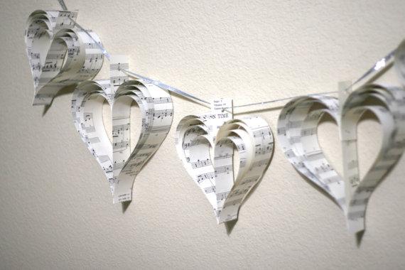 Wedding Garland Paper Heart Garland (Custom orders welcomed)