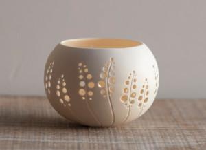 porcelain candle holder design N.8 Made to order. Wedding candle holder