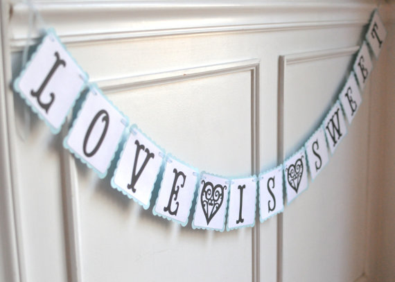Love is Sweet Banner – Paper Wedding Garland