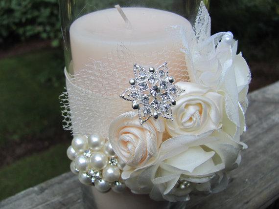 Custom Wedding Decor Glass Candle Holder