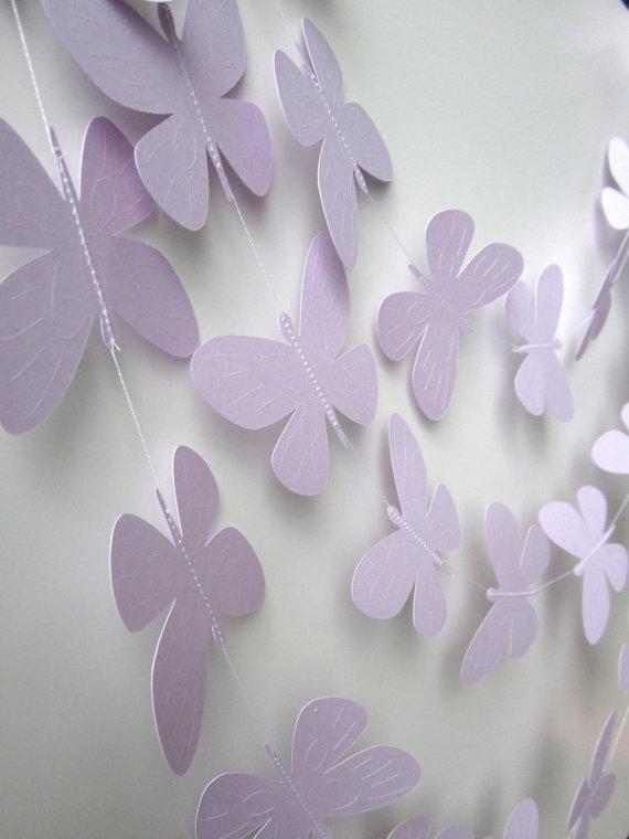 Wedding garland, 10 Foot Paper Butterfly Garland