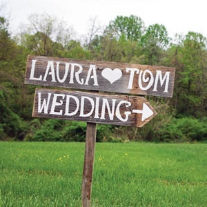 Rustic Wedding Signs Romantic Outdoor Weddings FEBRUARY ORDER NOW Hand Painted Reclaimed Wood
