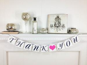 THANK YOU BANNER -Thank You Sign- Wedding Banner Photo Prop – Wedding Sign – Wedding Decoration