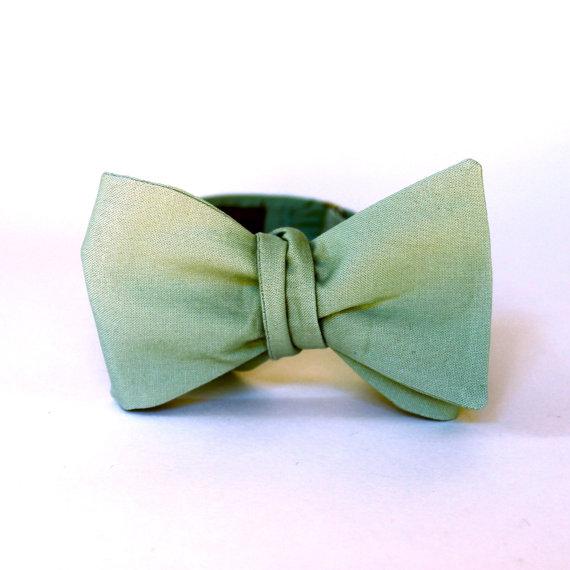 Men's Bow Tie – Dusty Shale – Freestyle Self Tie – match J.Crew dresses – Adjustable Bowtie