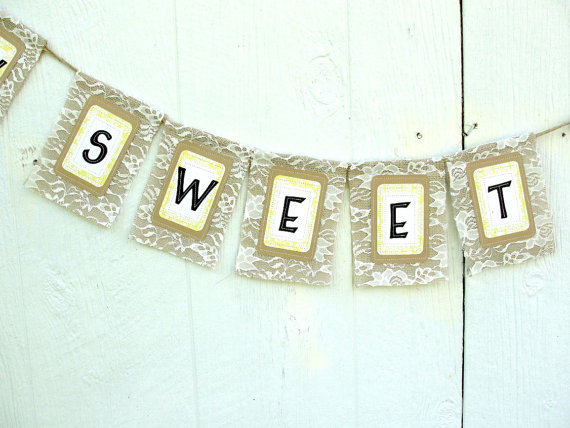 Wedding Garland, HOW SWEET It IS, Rustic Chic Bnner Decoration for Bridal Shower, Reception, Party