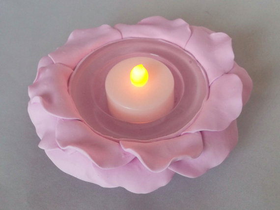 Rose Tealight Holder, Table Centrepiece, Pink Rose, Flower Decoration, Gift Idea, Mothers Day, Candle Holder, Wedding Centrepiece