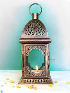 Unique Scheherazade Exotic Lantern/ Morrocan Decor/ Filigree Metal Candle Holder/ Wedding Lighting