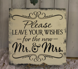 Guest Book/Please Leave Your Wishes For the New MR and MRS/Wedding Sign/Photo Prop/U Pick Color/Great Shower Gift/Vineyard/Rustic